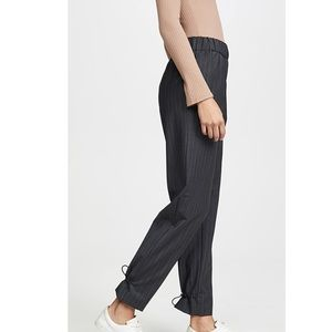 Tibi Easy Pull On Pinstripe Pants
